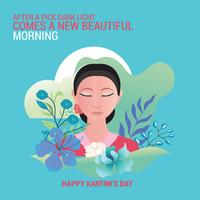 Kartini Day, RA Kartini est la figure féminine et la femme héros d'Indonésie vecteur