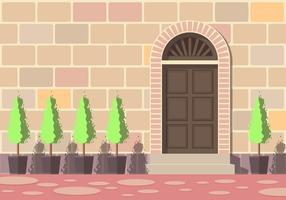 Vieilles portes européennes vecteur