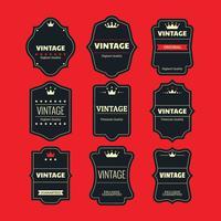 Set Vector étiquettes rétro ou vintage