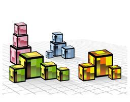 Cubes de couleur vecteur