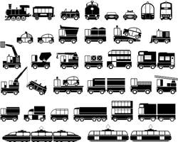 Silhouettes de voitures. vecteur