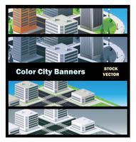 bâtiments urbains vecteur