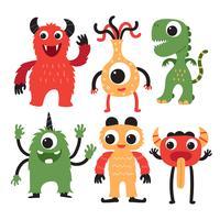 conception de collection de personnage de monstre vecteur