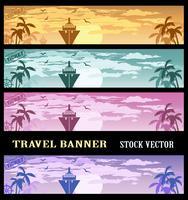 Bannières colorées vecteur