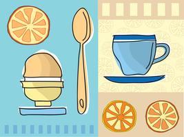 Café et petit déjeuner vecteur