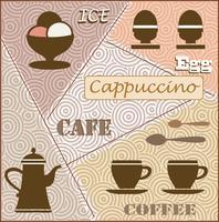 Thème du café vecteur