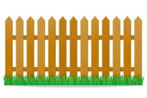 illustration vectorielle de clôture en bois vecteur