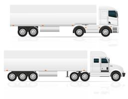 gros camion tracteur pour illustration vectorielle de transport cargo