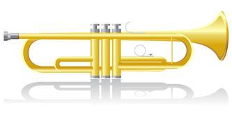 illustration vectorielle trompette vecteur
