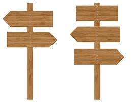 panneaux de bois signes vector illustration