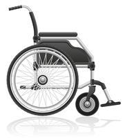 illustration vectorielle en fauteuil roulant vecteur