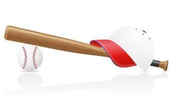 casquette de baseball ball et bit vector illustration