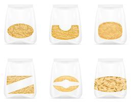 pâtes en illustration vectorielle emballage