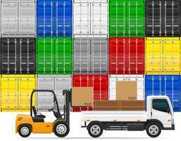 illustration vectorielle de fret transport concept