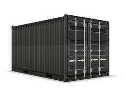 illustration vectorielle de conteneur de fret
