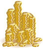 pièces d'or vecteur