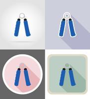 expandeur icônes plates vector illustration