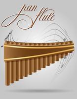 pan flûte vent instruments de musique stock illustration vectorielle vecteur