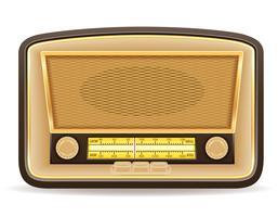 radio vieux illustration de vecteur vintage icône rétro
