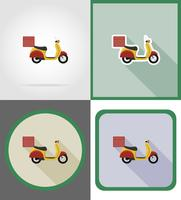 icônes de vecteur de véhicule de livraison vector illustration
