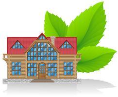 concept d'illustration vectorielle maison environnementale