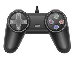 manette de jeu pour illustration vectorielle de console de jeu EPS 10