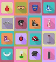 icônes de sport équipement de jeu plat vector illustration