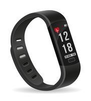 bracelet de montre de remise en forme intelligente numérique avec illustration de vecteur stock écran tactile