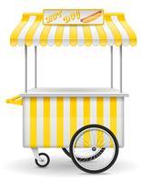 illustration vectorielle de street food chariot hot-dog