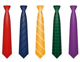 définir les couleurs des icônes cravate pour les hommes une illustration vectorielle de costume vecteur