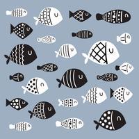 design vectoriel de poisson