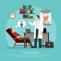 Illustration vectorielle de session d'hypnose