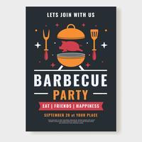 Vecteur d'affiche fête barbecue