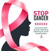 Fond de ruban de sensibilisation au cancer du sein vecteur