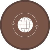 Globe Glyph Multi couleur fond icône