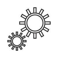 Options avancées Line Black Icon