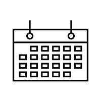 Ligne noire icône événement programmé