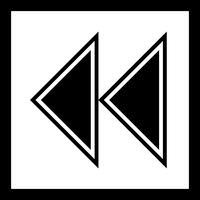 Conception d'icône de flèches vers l'arrière