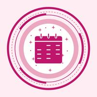 Conception d'icône de calendrier vecteur
