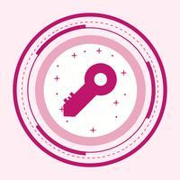 Conception d'icône clé vecteur