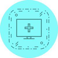 Conception d'icône d'aide médicale en ligne