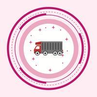Conception d'icône de camion benne vecteur
