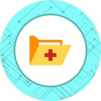 Conception d'icône dossier médical