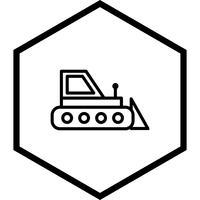 conception d'icône bulldozer vecteur