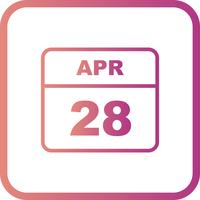 28 avril Calendrier d'une journée