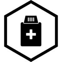 Conception d'icône de bouteille de médecine