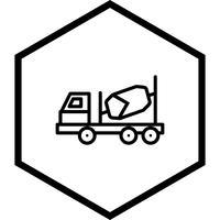 Bétonnière Icône Design vecteur