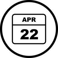 22 avril Calendrier d'une journée