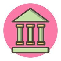 Conception d'icônes de l'institut éducatif vecteur
