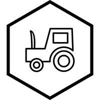 Conception d'icône de tracteur vecteur
